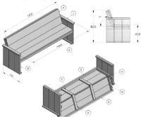 Bouwtekeningen voor tuinbanken steigerhout en pallets for Tuinbank steigerhout aanbieding